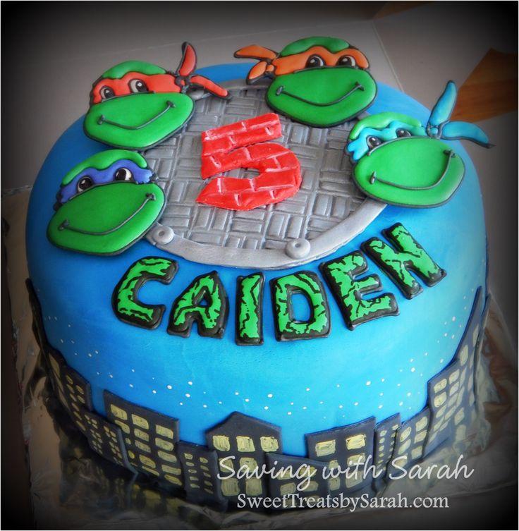 Teenage Mutant Ninja Turtle Cake #tmnt #tmntparty
