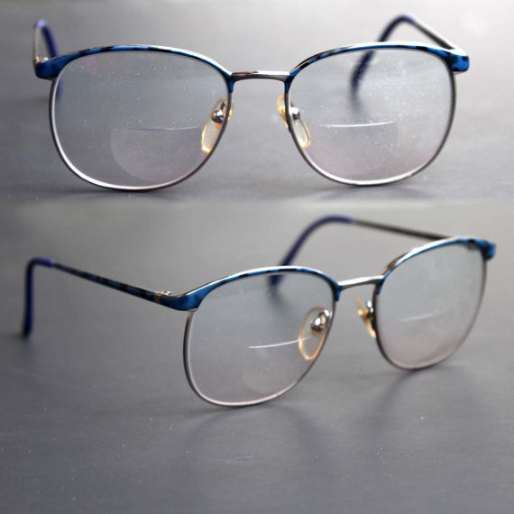 c7157427a6e Items similar to cherryREVOLVER Vintage PERRY ELLIS Eye Glasses Men or  Women Unisex Blue and Gold Metal Arms 90s Prescripton RX Eyewear on Etsy