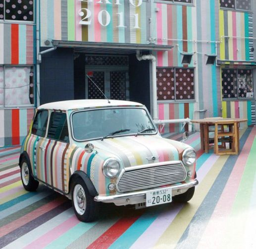 washi tape mini cooper!