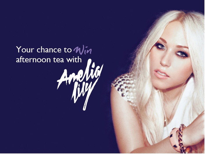 We're giving one lucky Amelia Lily fan the chance to have afternoon tea with the singer this Friday!    To enter, all you have to do is tell us why you, or someone you know, would love to meet Amelia - answer in the comments below.    The winner will be announced on Thursday evening.    *Winner must be able to travel to Newcastle Upon Tyne on Friday afternoon (Nov 30th), if under the age of 18 must be accompanied by an adult.