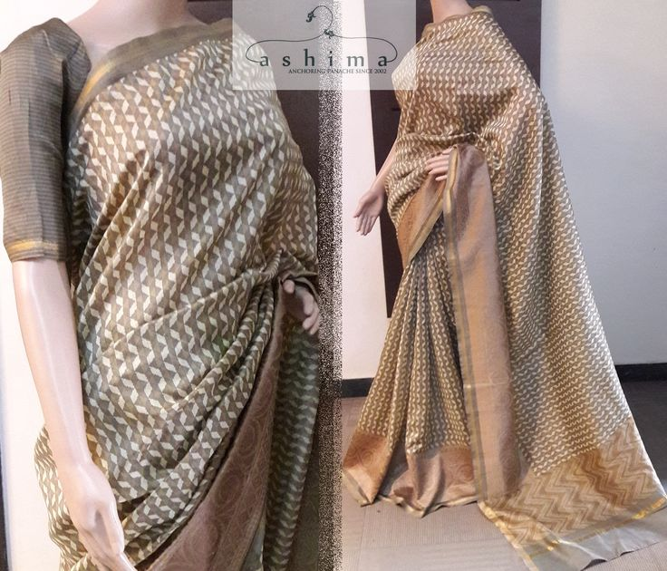 Code:3003171 - Chanderi Saree With Woven Border, Price INR:4530/-