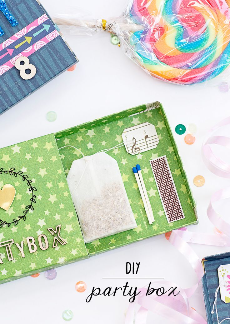mojosanti ♥ Sandra Dietrich: DIY Partybox für eine Teebeutelrakete | Make your own party game box