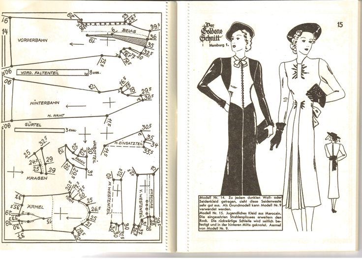 Lutterloh 1939 Book Of Cards - Models Diagram Card Page 14 & 15