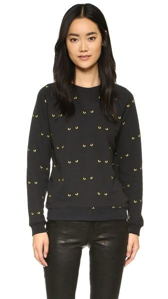 Zoe Karssen Cat Eyes Pullover Sweatshirt