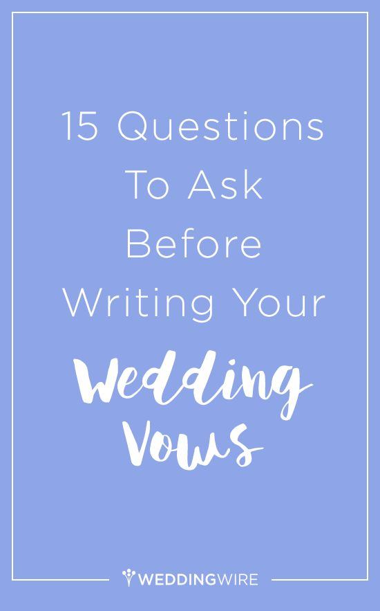 Worried about writer's block when writing your vows? Here are 15 questions to answer before the wedding arrives!