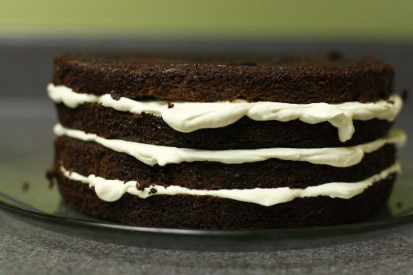 The Best Chocolate Cake Ever with Pudding Frosting | Recipe