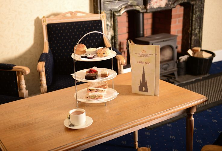 Our traditional #afternoon #tea in The Old Waverley #hotel #Edinburgh.