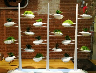 Live Screen    Using hydroponics in a more stylish form than usual, the Live Screen from Brooklyn-based designer Danielle Trofe is a self-sustaining planter system for the indoors. With this elegant, modular design, urban gardeners can enjoy the fruits of their labor even without a rooftop. Although still a prototype, we anticipate production of the structure soon.