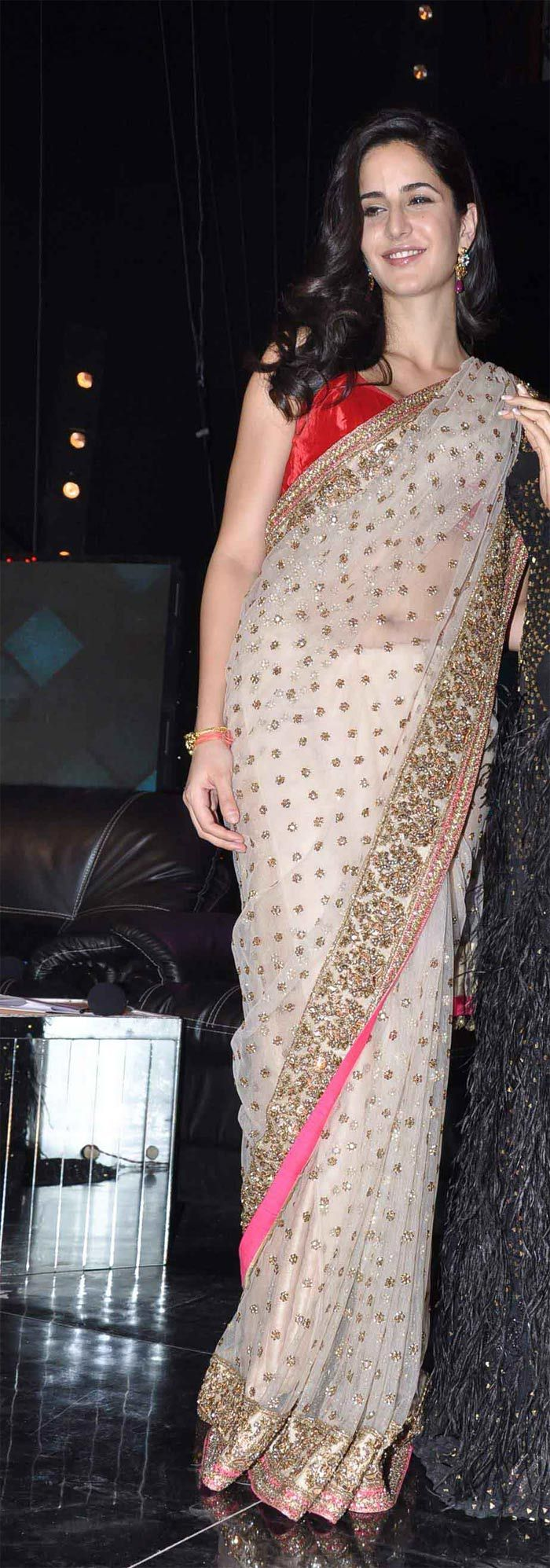 Katrina Kaif, Jab Tak Hai Jaan promotions: Katrina proved that Manish Malhotra outfits aren't the sole preserve of Kareena Kapoor with this lovely embellished sari which she wore to promote her film Jab Tak Hai Jaan at the finale of India's Got Talent in November. Move over, Bebo?