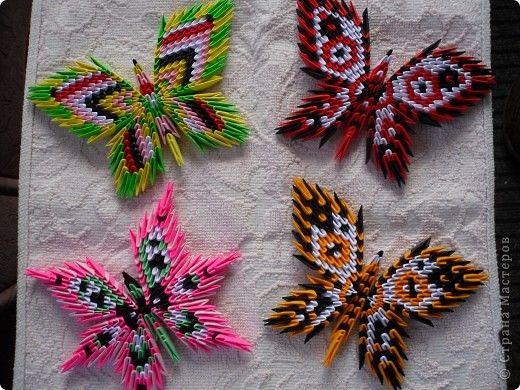 модульное оригами бабочка пошаговая инструкция - фото 6