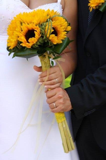 Svatební kytice ze slunečnic / Květiny Fleurs #wedding #flower