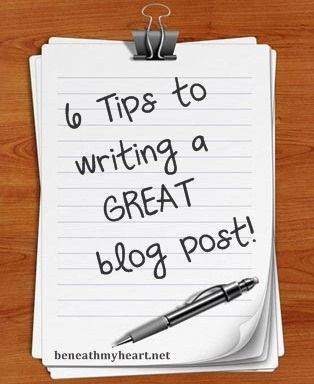 If I ever start the blog I have been contemplating: 6 tips to writing a great blog post