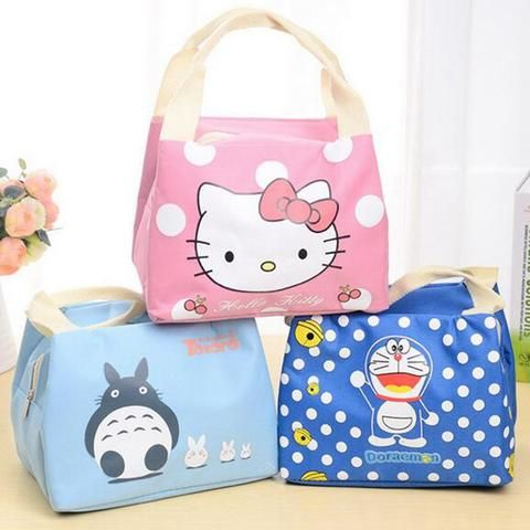 Lunch and Picnic Bag / Tote with Insulation (Cartoon Design)
