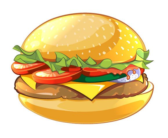 how to draw a burger easy