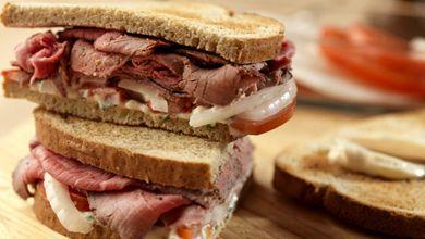 Sanduíches de Carne Assada - Receitas de Cozinha