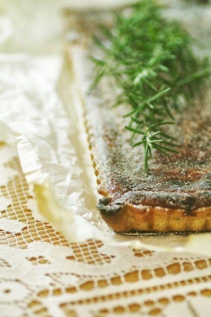 Chit Chat Chomp: Blood Orange & Rosemary tart