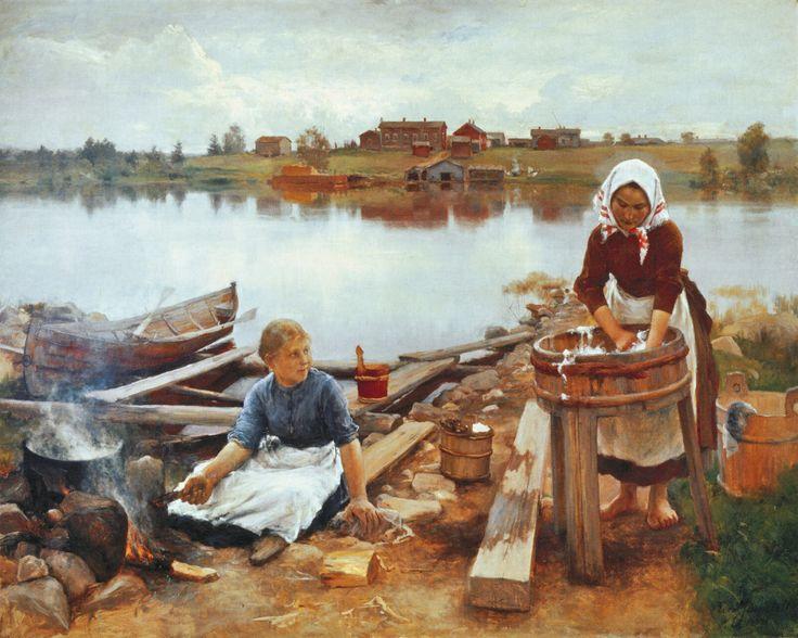 Pyykkiranta (1889) by Eero Järnefelt