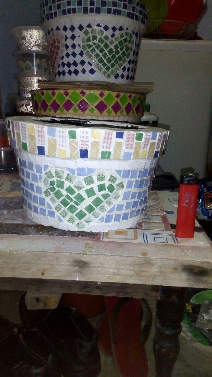 tile mosaic pot