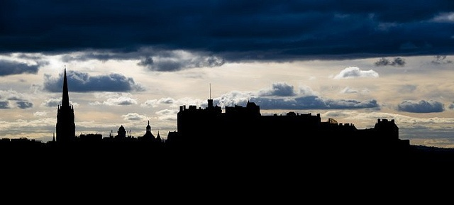 Edinburgh skyline at dusk
