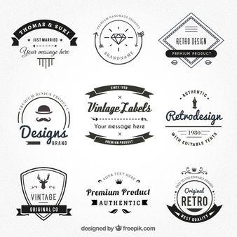 Vintage labels in hispter style