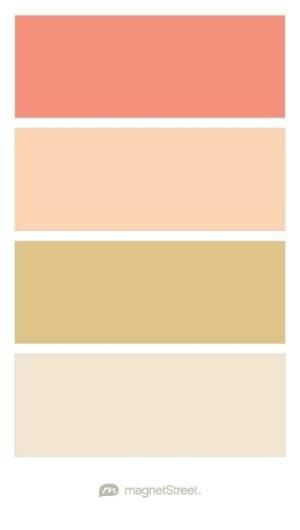 Coral, Peach, Gold, and Champagne Wedding Color Palette - custom color palette created at MagnetStreet.com by imelda