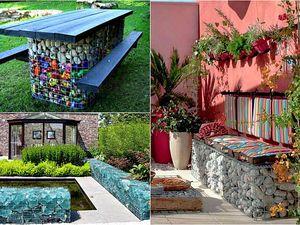 Габион — модная тенденция в ландшафтном дизайне, или Что можно сотворить из сетки и камней   Ярмарка Мастеров - ручная работа, handmade