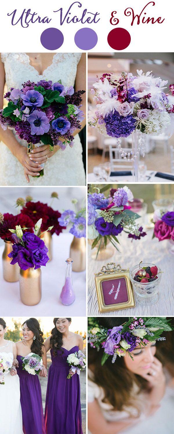 Wedding Trends 2018 Pantone Ultra Violet Wedding Color Ideas