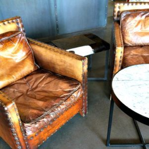 Bendooley Estate leather chairs Berrima Southern Highlands NSW