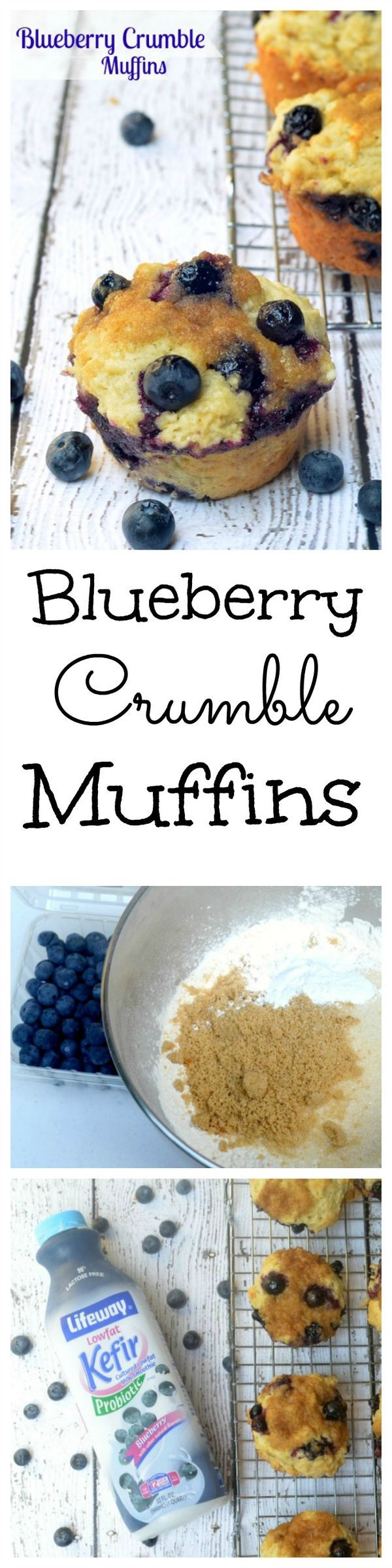 Ready for some mouth watering awesomeness? These blueberry crumble muffins are to die for!