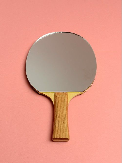 How fun! Take those well-loved ping pong paddles and use 'em to decorate.