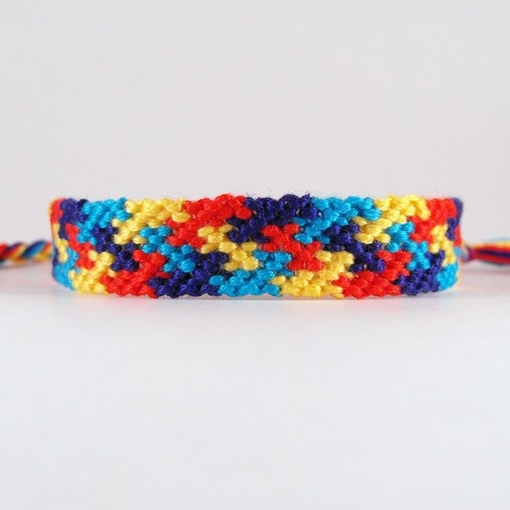 Thin Autism Awareness Macrame Friendship by TheNotableKnot on Etsy, $8.00