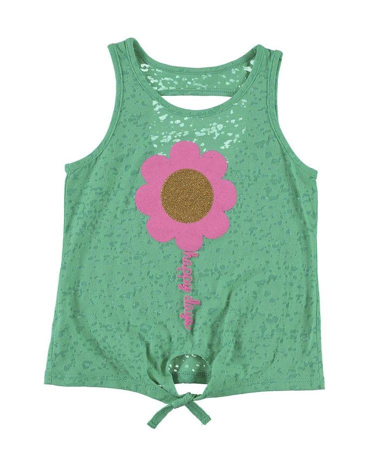 Burnout Flower Tank Top