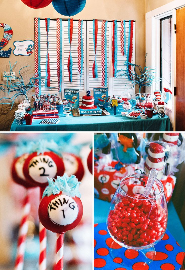 Creative & Crafty Cat in the Hat Birthday Party Dr seuss