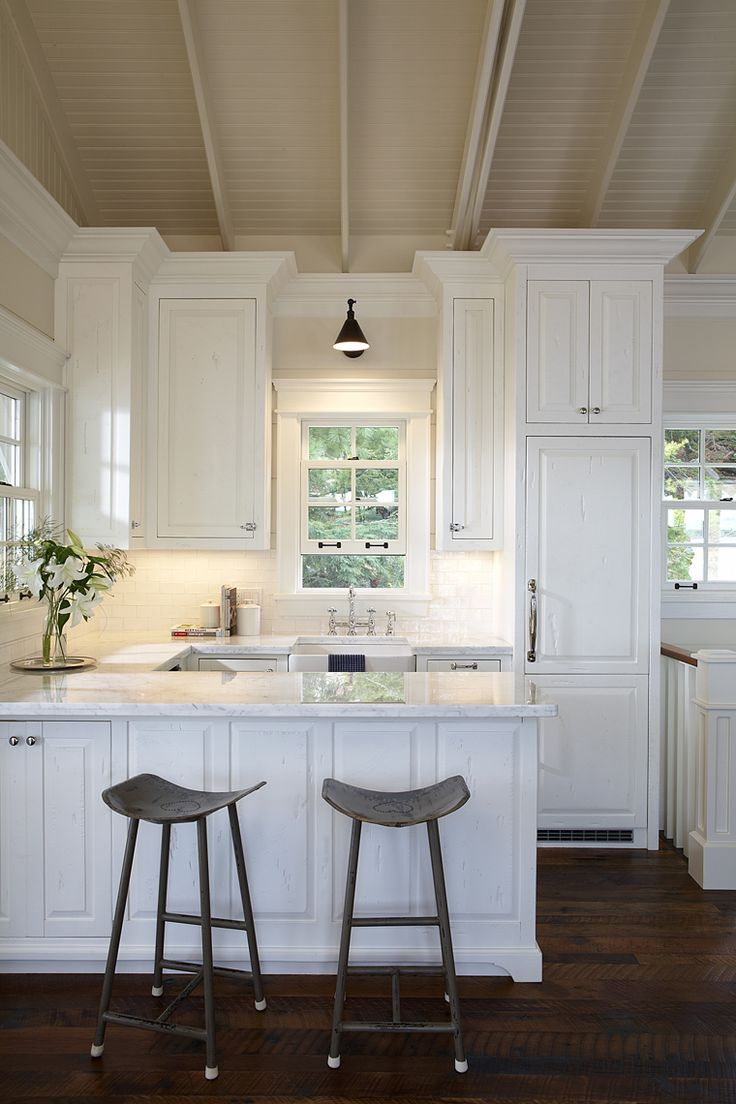 ceiling detail, cabinet profile, industrial saddle stools