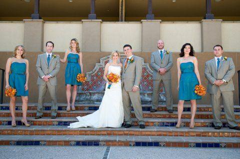 Phoenix Bride  Groom Blog filled with Inspiring Wedding Ceremony  Reception Ideas, Real Phoenix Weddings, and Phoenix Wedding Industry News » Teal blue and Orange Wedding