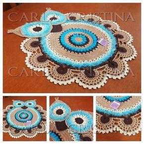 Tapete de Crochê Coruja Max | carla cristina e crochet | Elo7
