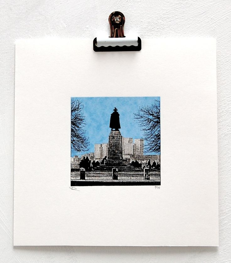 General Wolfe, Greenwich - Screenprint, edition of 25, image 10x10cm, £30
