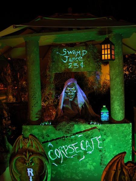 Halloween decorations - latimes.com: Lemonade Stands, Halloween Parties, Halloween Decor, Creepy Lemonade, Creepy Halloween, Corps Cafe, Halloween Lemonade, Halloween Autumn Decor, Halloween Ideas
