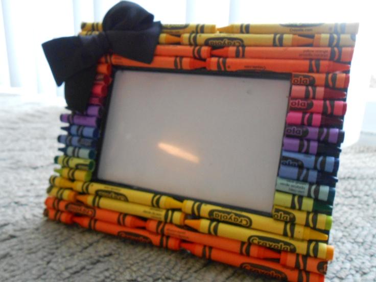 Crayola Crayon Frame - Free US Shipping. $10.00, via Etsy.
