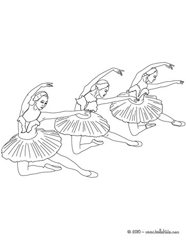 ballet dancers scene coloring page