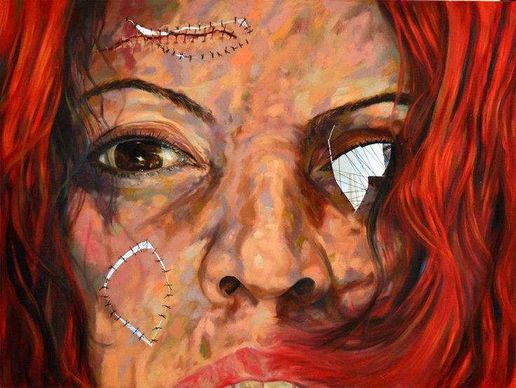'' No name '' 120X130 cm  Mixed technique