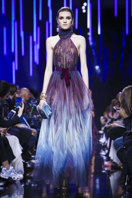 For the Spring season, it was all about pink, for the upcoming Fall, designers seem to have fallen in love with powerful blue and purple hues. Once again, Elie Saab did what he does best: figure-hu...