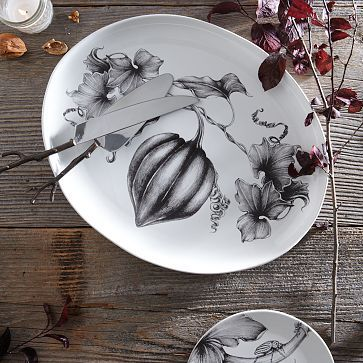 A lovely, sophisticated take on the traditional platter - Laura Zindel Thanksgiving Platter #WestElm