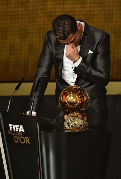 Cristiano getting the award & crying. I admit that at this point, I did too - never felt this happy for any athlete. awesome job, keep going and keep playing for this club, we love you!