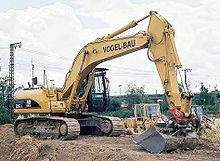 Excavator (Construction - Bucket) a vehicle with an boom, stick, and bucket to scoop stuff up and move it away quickly