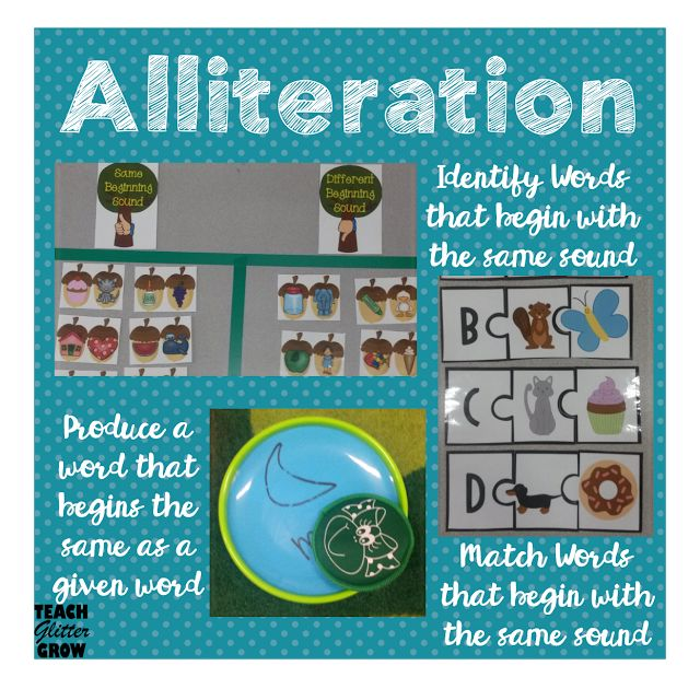 Lots of different ideas for alliteration activities!