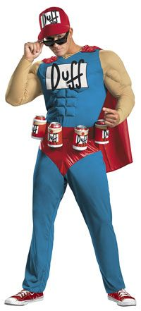 Funny Muscle Duffman Costume The Simpsons Costumes