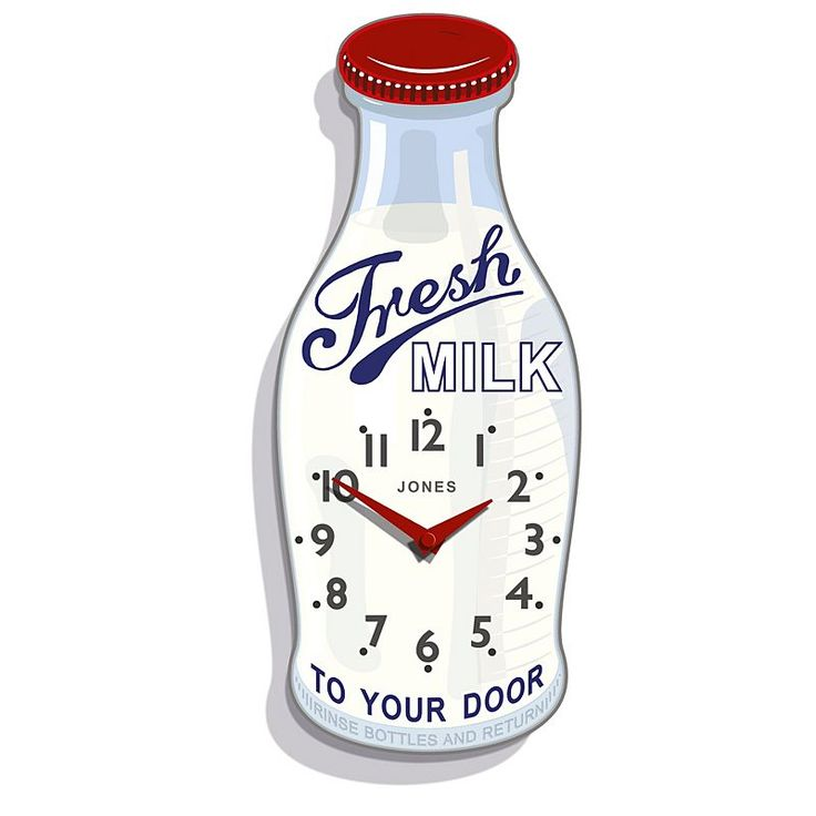 fresh idea whimsical clocks. Add color and whimsy to your kitchen with the charming Jones Clocks Milk  Bottle Wall Clock This playful piece is refreshing retro easy read 78 best from Pinterest images on