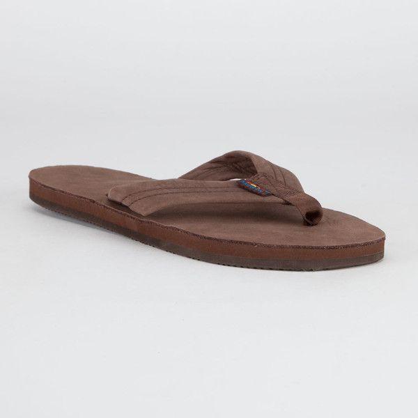 Rainbow Premier Leather Sandals ($54) ❤ liked on Polyvore featuring men's fashion, men's shoes, men's sandals, shoes, men, mens strap sandals, mens leather strap sandals, mens sandals, mens leather shoes and mens shoes