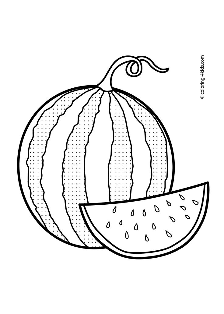 Best 25 Fruit coloring pages ideas